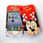 เคสประกบหน้า-หลัง Minnie Mouse แดง iPhone 4/4S
