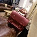 pb059 กระเป๋าถือแฟชั่น ฝาปิดหูบน พร้อมสายยาว 4 สี
