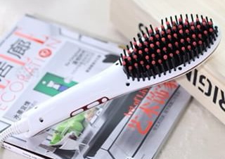 หวีผมตรงไฟฟ้า Beautiful Star Hair Auto Straightener ของแท้ (สีขาว)
