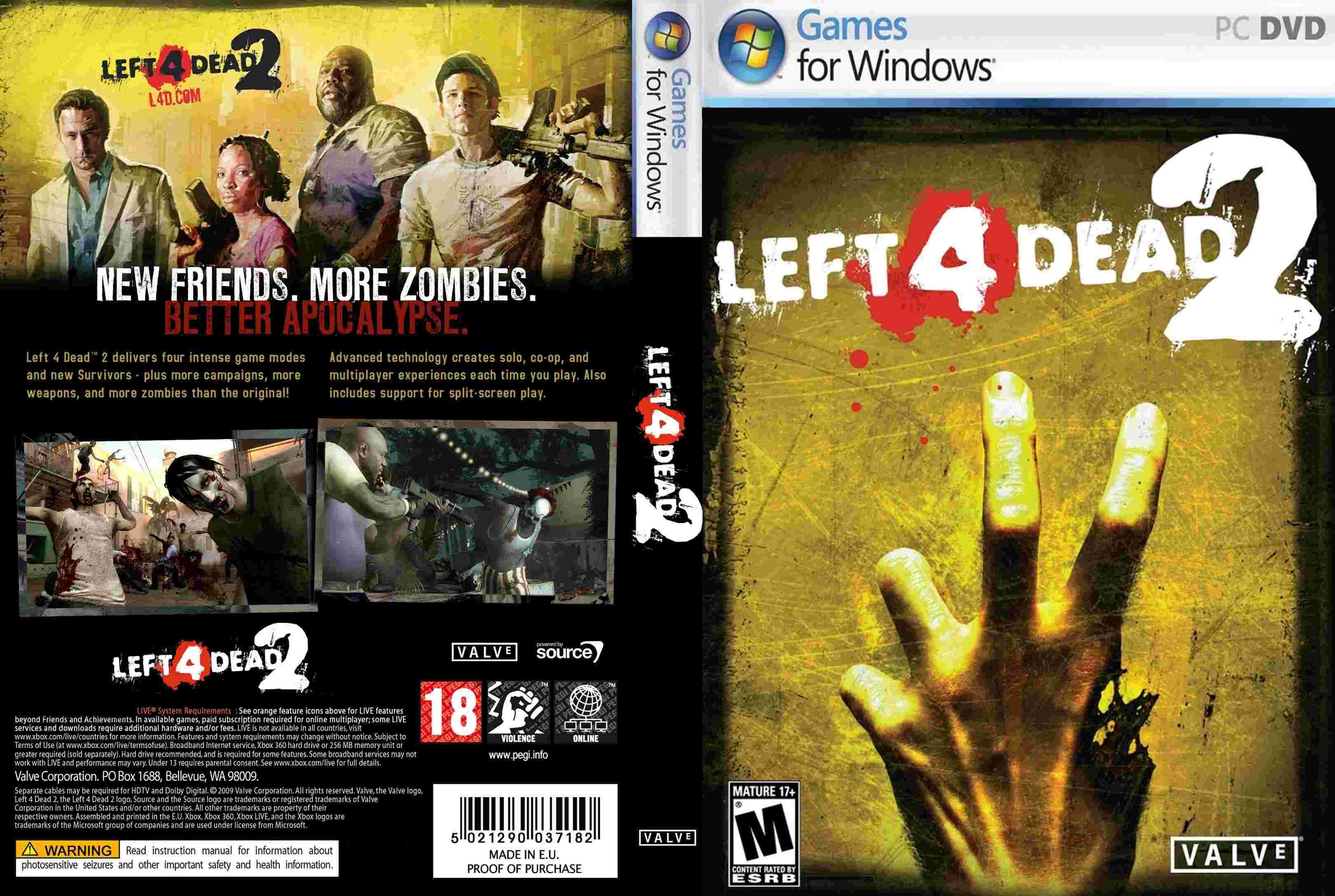 Left 4 Dead 2 จำนวน 2DVD