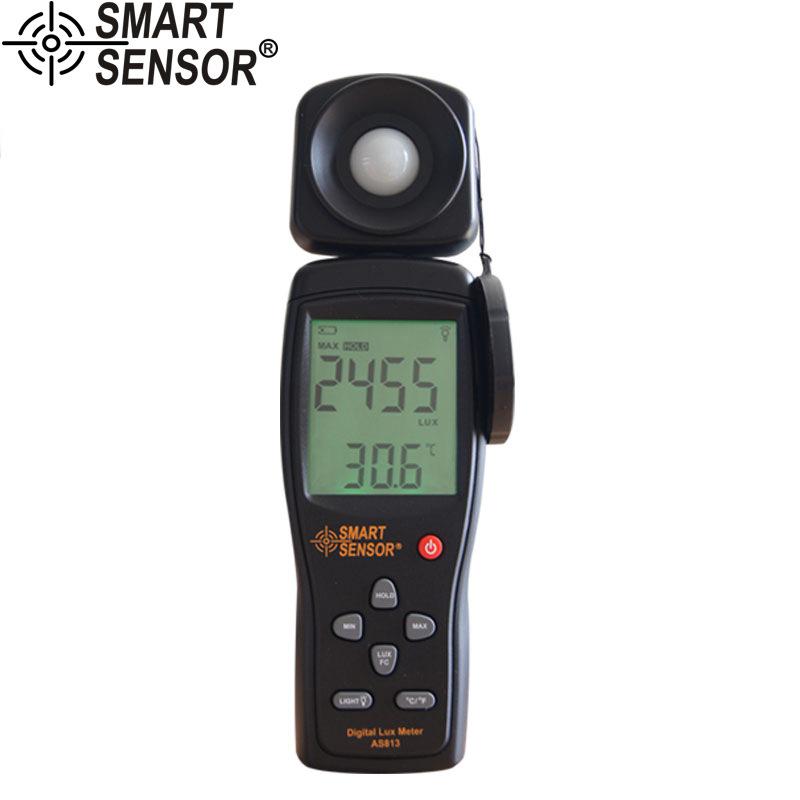 เครื่องวัดแสง Lux meter Light Meter Lumen meter ย่านการใช้งาน 1-100,000lux รุ่น AS813