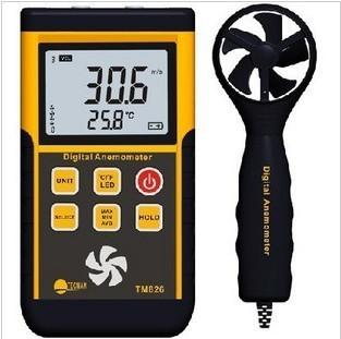 เครื่องวัดความเร็วลม (Anemometer) รุ่น TM-826 range 45m/s