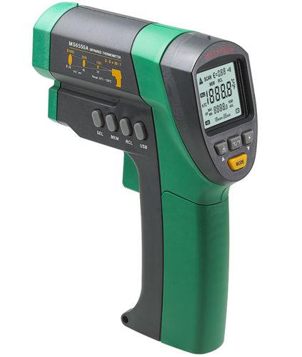 อินฟราเรดเทอร์โมมิเตอร์ (Infrared Thermometers ) รุ่น Mastech MS6550A 50:1 -32~1200°C วัดระยะไกล อุณหภูมิสูง