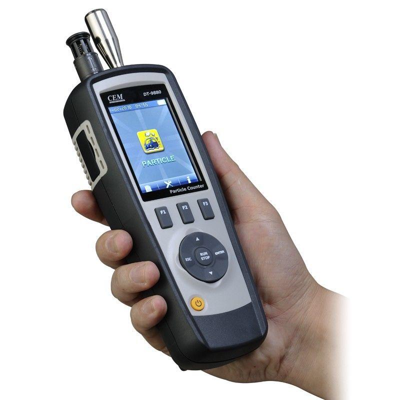 4 in 1 เครื่องวัดอนุภาค หรือ เครื่องวัดปริมาณฝุ่น (Particle Counter) ยี่ห้อ CEM รุ่น DT-9880