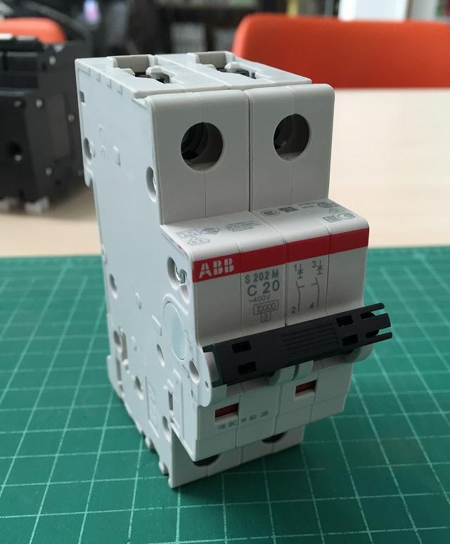 """เมนเบรกเกอร์ 2P 6-63A """"ABB"""""""