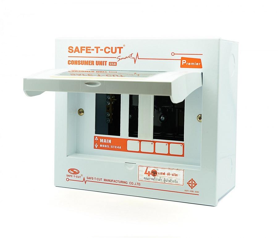 ตู้ Consumer Unit 2P ขนาด 4 ช่อง Safe-T-Cut