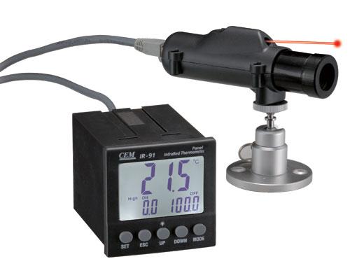 อินฟราเรดเทอร์โมมิเตอร์ (Infrared Thermometers ) 50:1 รุ่น IR-91 ย่านการวัด -35-900℃