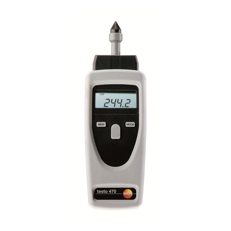 เครื่องวัดความเร็วรอบ (Digital Tachometer) แบบเลเซอร์และแบบสัมผัส ยี่ห้อ Testo 470