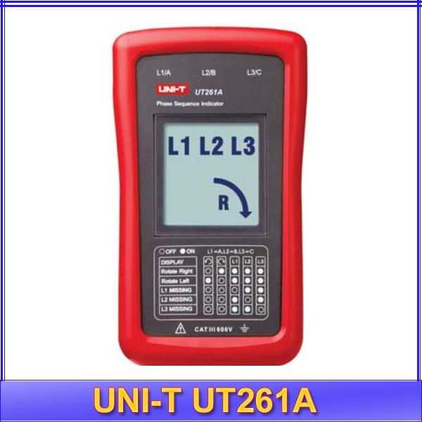 Phase Rotation Tester(เครื่องวัดลำดับเฟส) รุ่น Uni-t UT261A 40V~690V 15Hz~400Hz