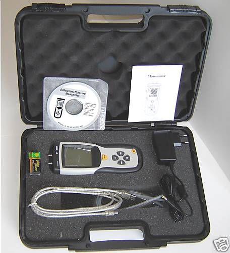 มานอมิเตอร์ราคาไม่แพง รุ่น CEM DT-8890 วัดได้ทั้ง Differential Air Pressure และ Manometer มีแผ่นโปรแกรมต่อกับคอมพิวเตอร์เป็น Datalogger ได้