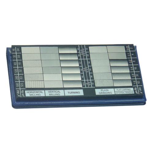 แผ่นสอบเทียบความเรียบผิว (surface roughness comparator) 0.05 -12.5µm