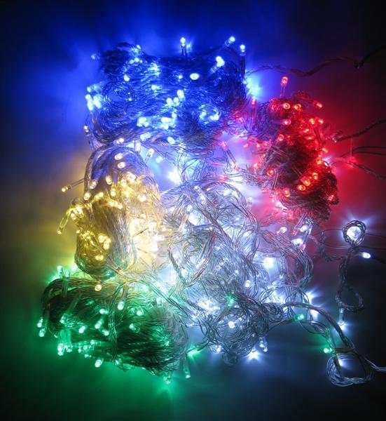 ไฟหยดน้ำ LED 100 หัว (กระพริบ)