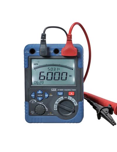 เครื่องวัดความเป็นฉนวน ( Insulation Tester) รุ่น CEM DT-6605 ,500V - 5000V and up to 60GΩ