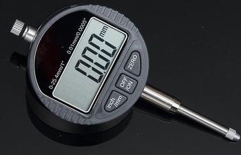 Digital Dial Gauge (ไมโครมิเตอร์) Range 0-25.4 mm. ความละเอียด 0.01 mm.