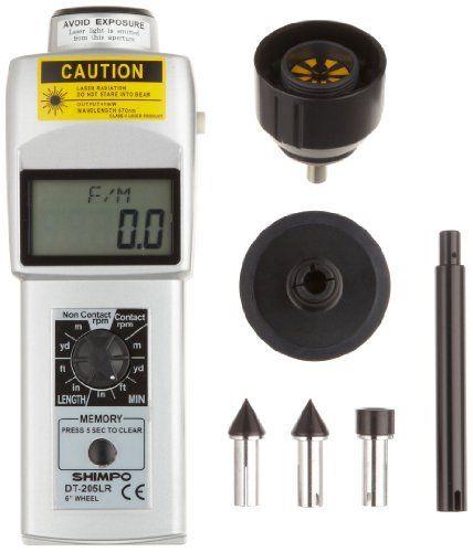 เครื่องวัดความเร็วรอบ (Digital Tachometer) แบบเลเซอร์และสัมผัส ยี่ห้อ Shimpo รุ่น DT205LR จาก USA