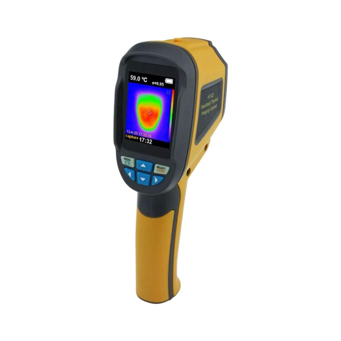 "Thermal Imager (กล้องถ่ายภาพความร้อน) รุ่น HT-02 หน้าจอ 2.4"" TFT 60x60 pixels ราคาไม่แพง"