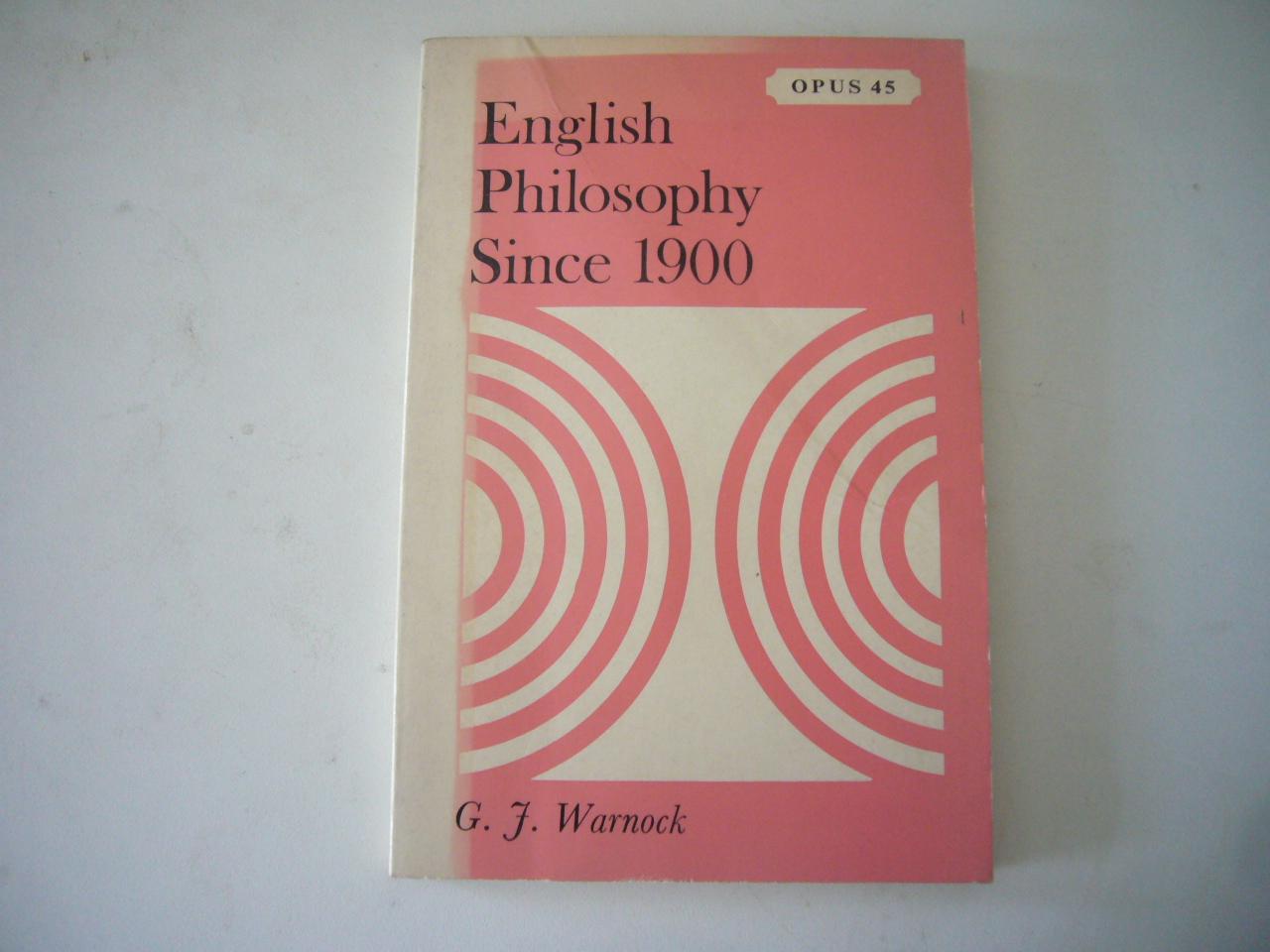 English Philosophy Since 1900