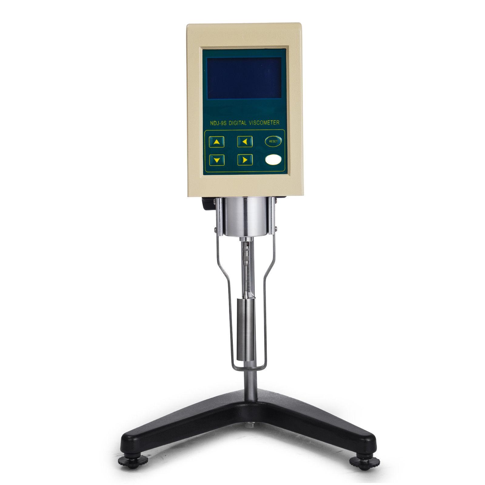 เครื่องวัดความหนืด Digital Rotary Viscometer Viscosity Tester 10-100000mPa.s Temperature Display NDJ-9S 110V