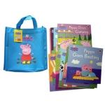 พร้อมส่ง หนังสือพร้อมกระเป่าผ้า Peppa Pig Bag Collection (หนังสือปกอ่อน 10 เล่ม)