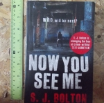 Now You See Me (By S.J. Bolton)