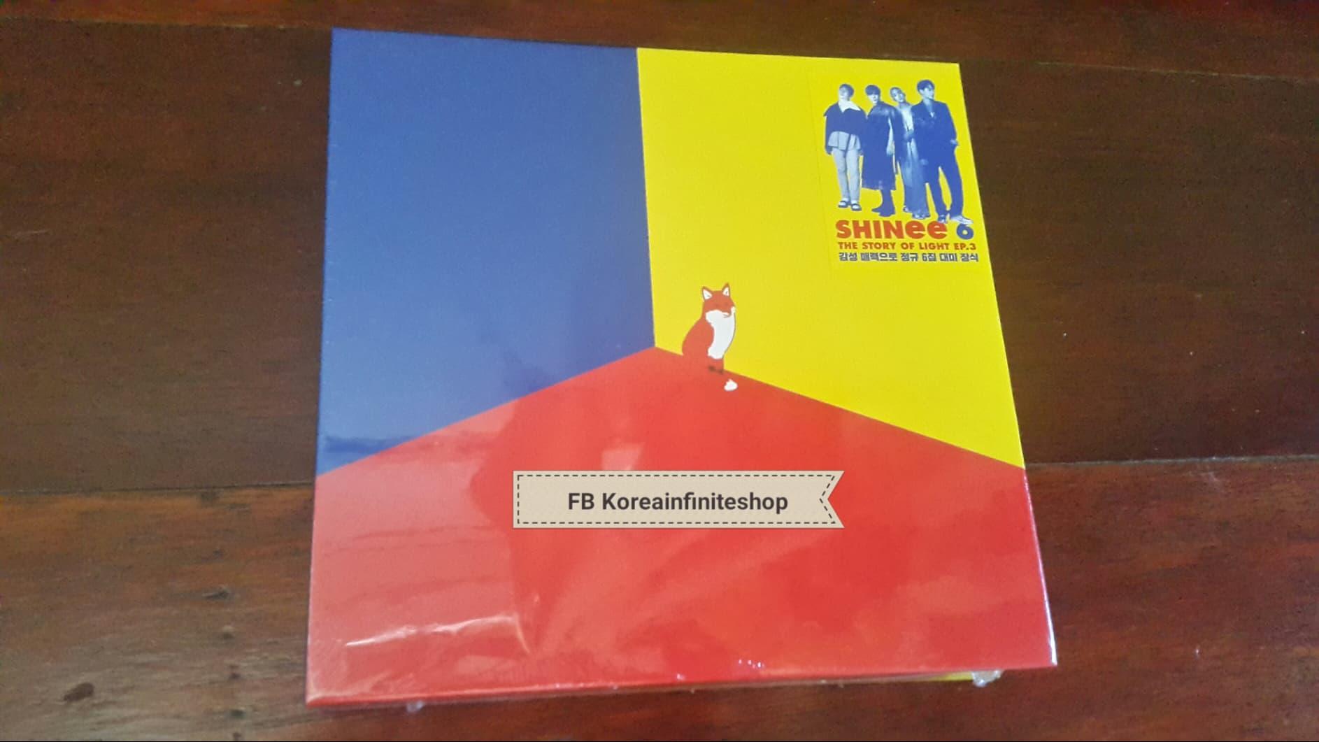 ( พร้อมส่ง ) SHINEE 6th Album THE STORY OF LIGHT EP 3 + Limited Poster
